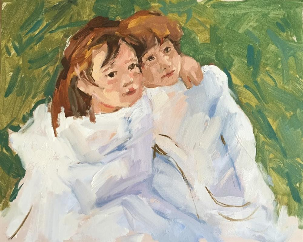 """Mary Cassatt study and a poem"" original fine art by Haidee-Jo Summers ROI"