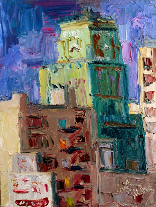 """Eastern Building From 9th St.: First Prize!"" original fine art by Carol Steinberg"