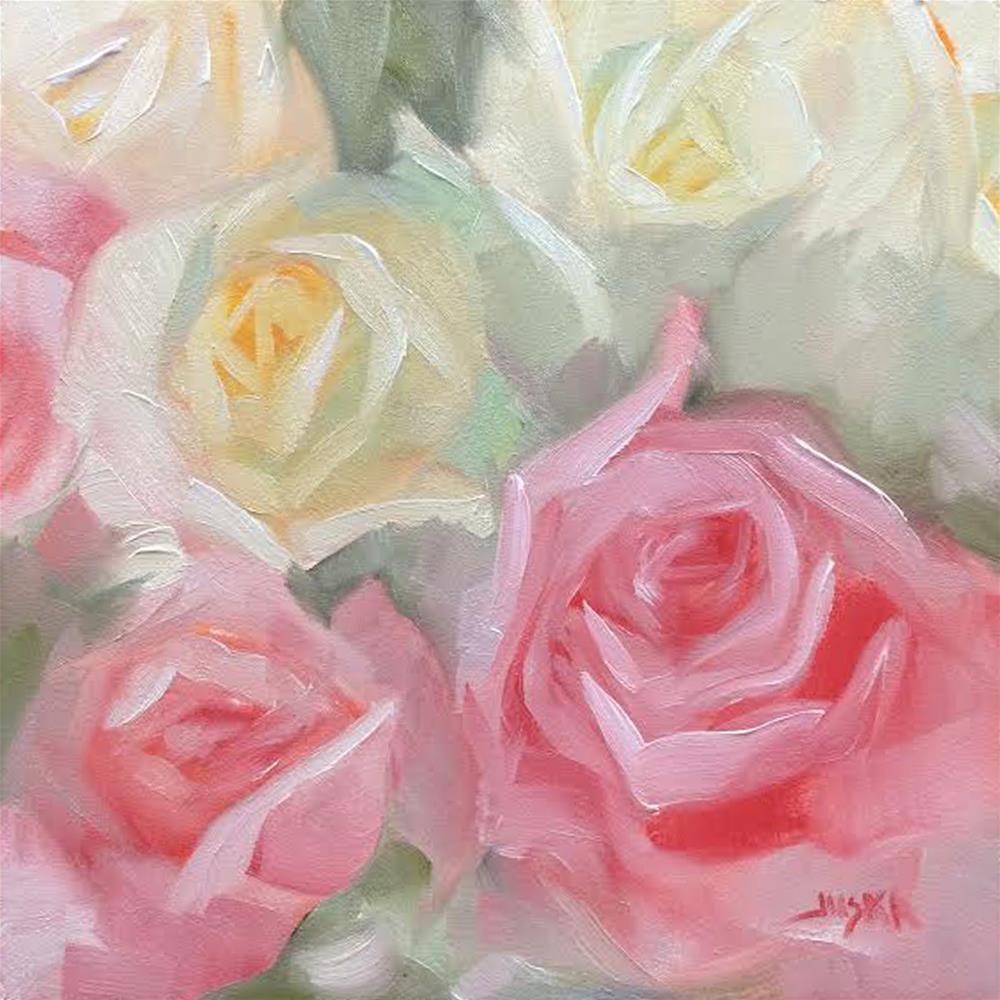 """Bohemian Rose Bouquet"" original fine art by Elaine Juska Joseph"
