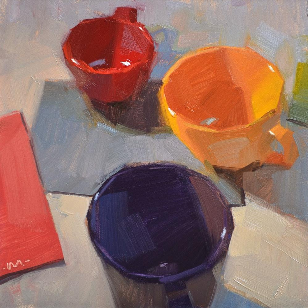 """Scattered Cups"" original fine art by Carol Marine"