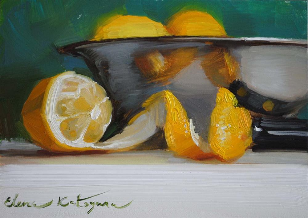 """Citrus Bowl"" original fine art by Elena Katsyura"