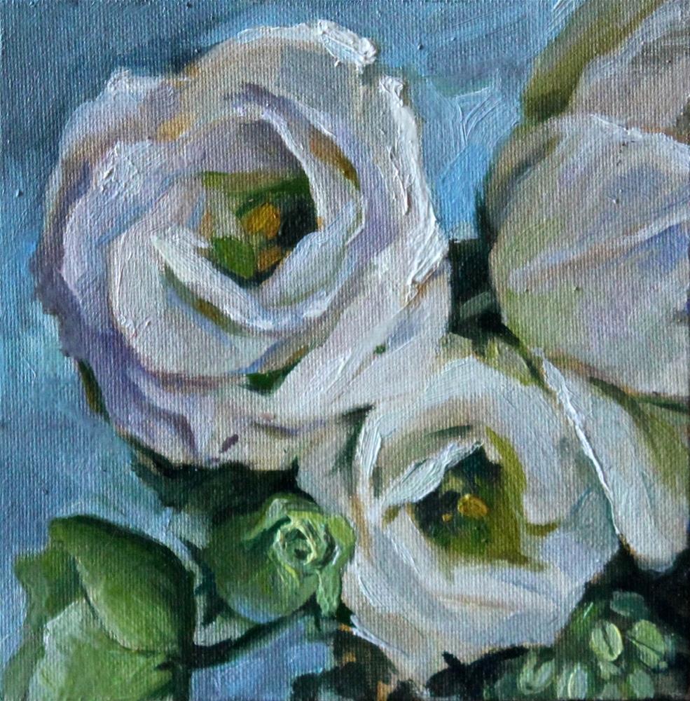 """""""White Flowers"""" original fine art by Neringa Maxwell"""