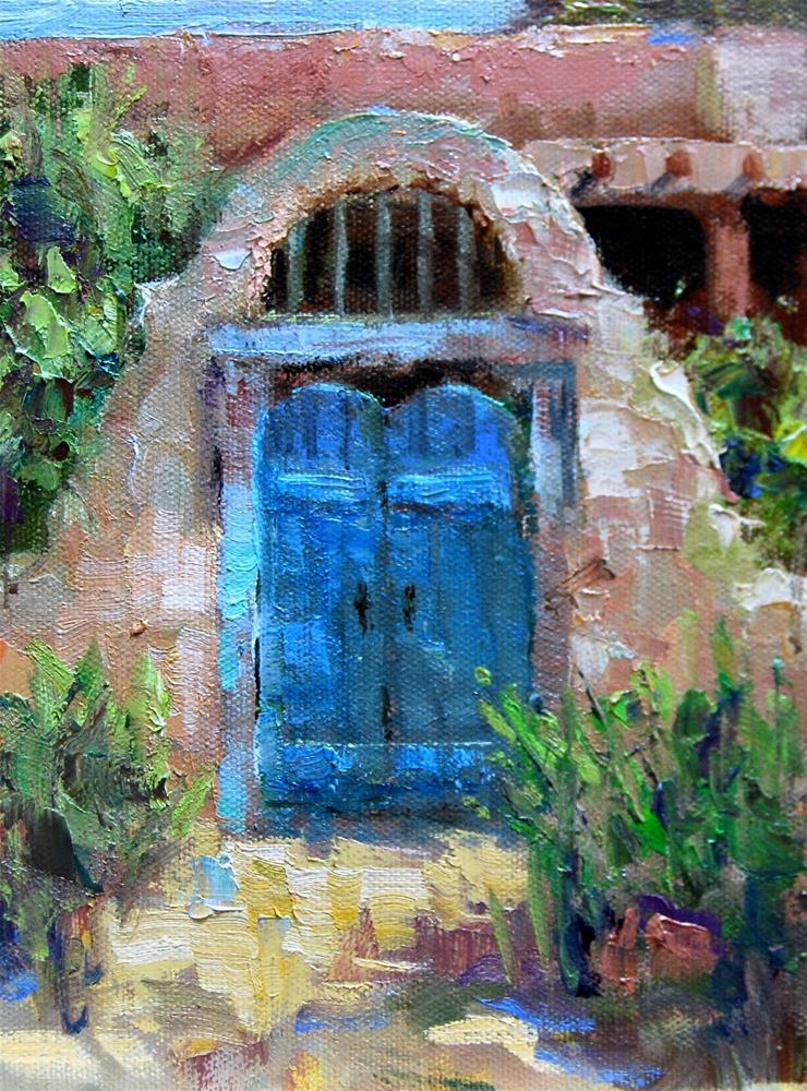"""New Mexico Gate"" original fine art by Julie Ford Oliver"