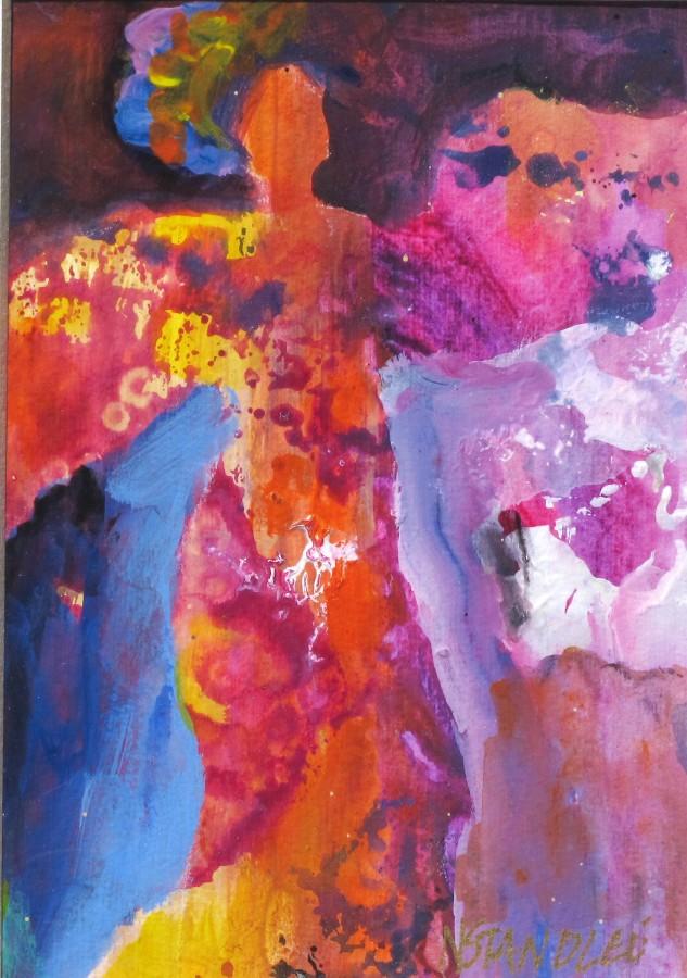 Mamma Mia 112007 original fine art by Nancy Standlee