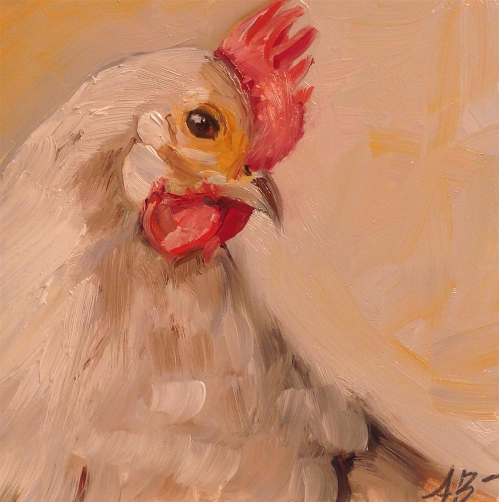 """Spring Chicken"" original fine art by Annette Balesteri"