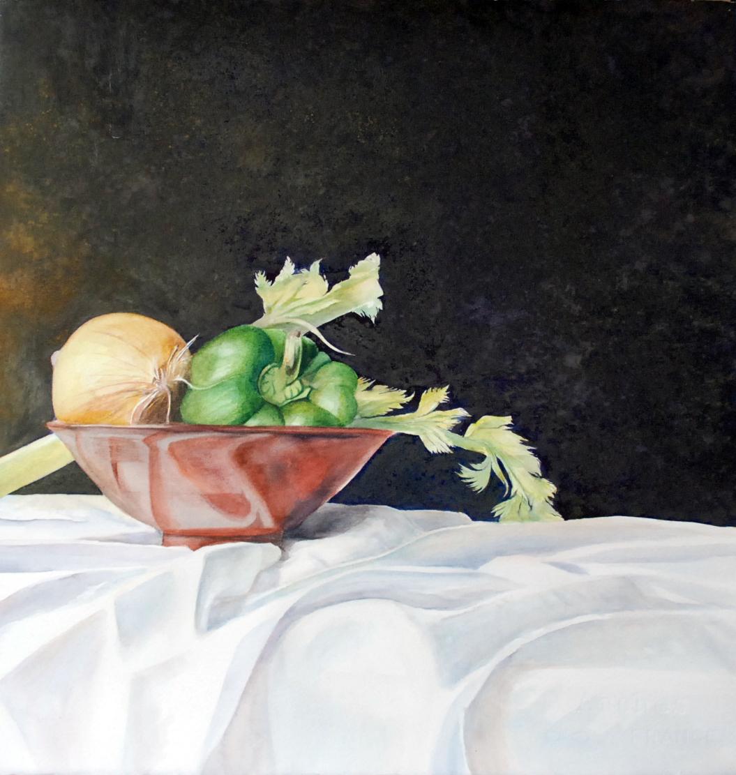 """Julie's Bowl"" original fine art by Patti Adams"