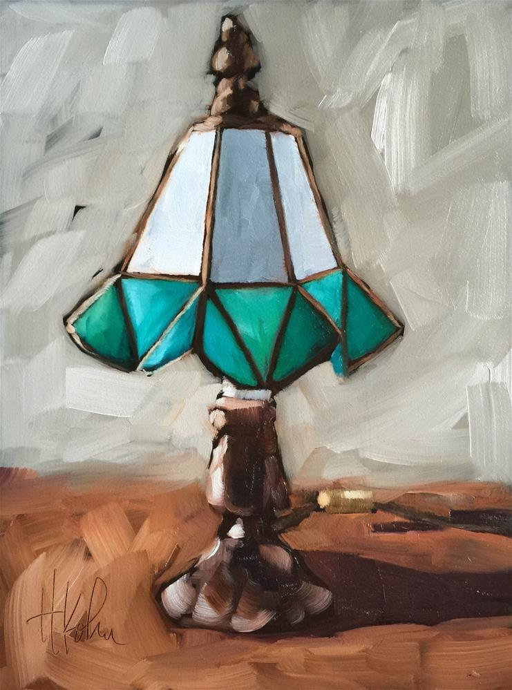"""Antique Lamp"" original fine art by Hallie Kohn"