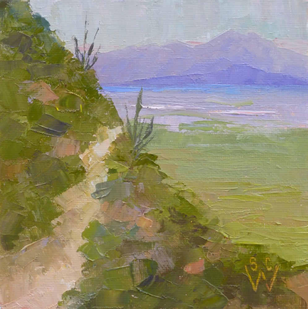 """Overcast at Gates Pass"" original fine art by Susan Woodward"