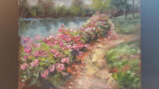"""Along the Peony Path"" original fine art by Tammie Dickerson"