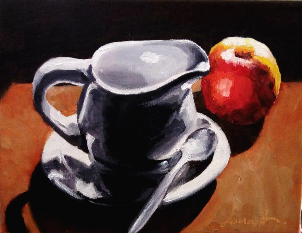 """Quick Breakfast"" original fine art by Laura B."