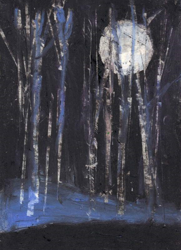 """Forest by Moonlight"" original fine art by Meredith Adler"