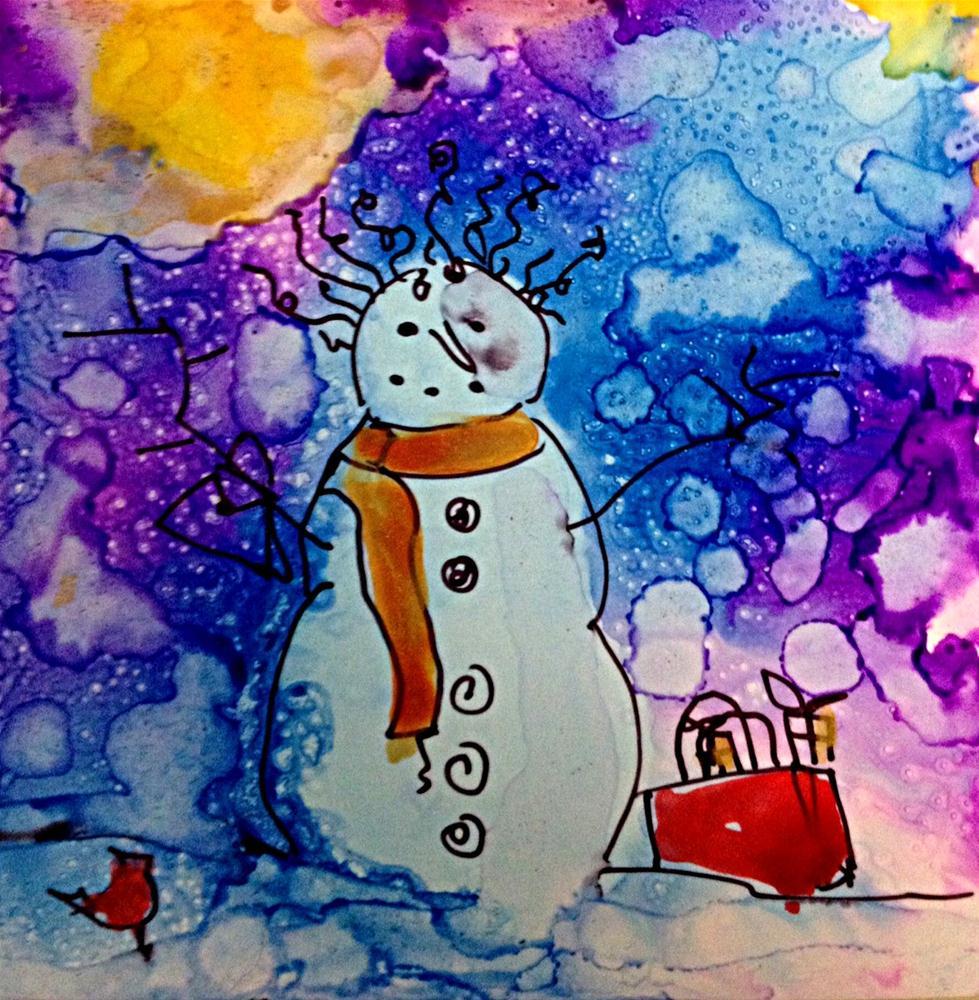 """""""snowwoman2"""" original fine art by Kristen Dukat"""