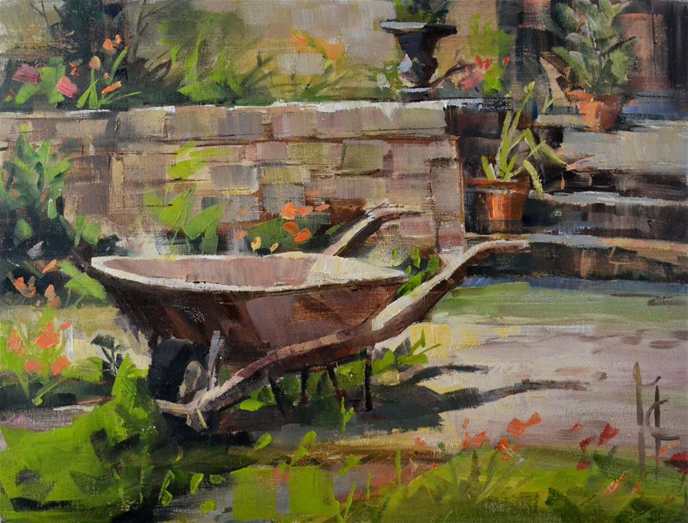 """In the Garden"" original fine art by Garry Colby"
