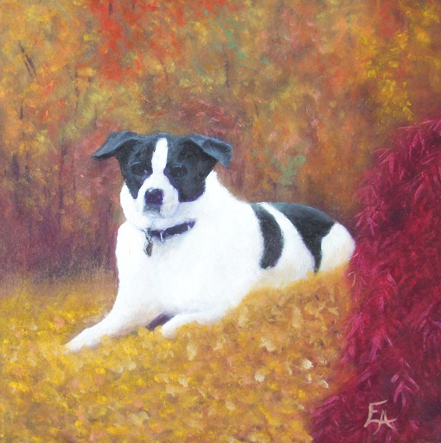"""Peppie, RIP"" original fine art by Elizabeth Elgin"