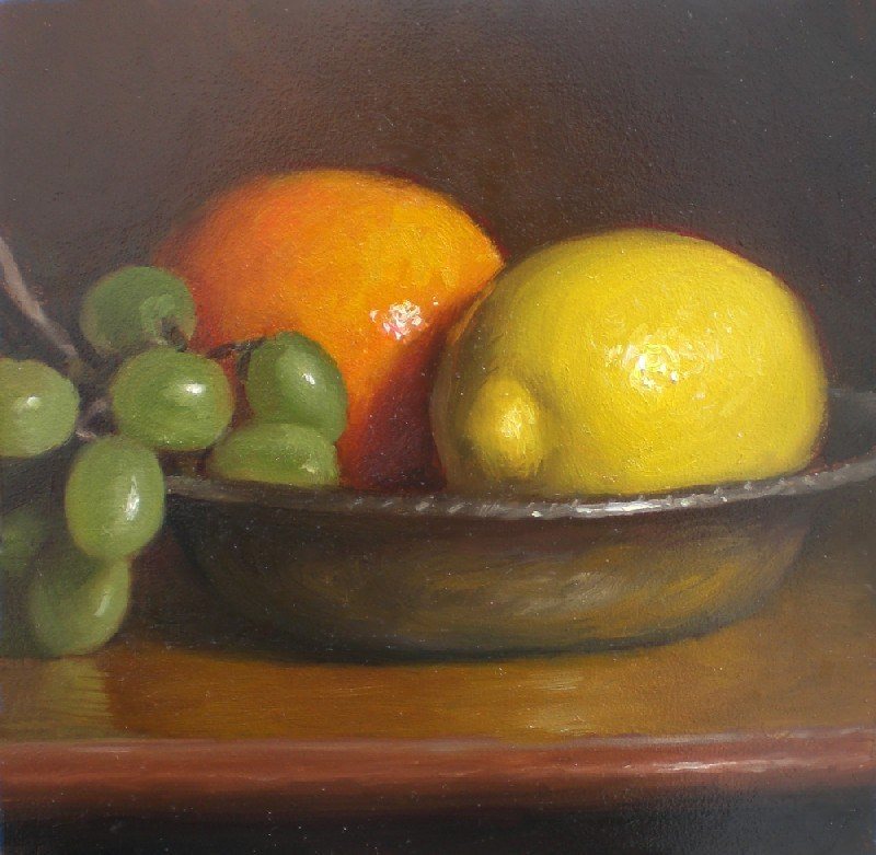 """Lemon and Orange"" original fine art by Debra Becks Cooper"