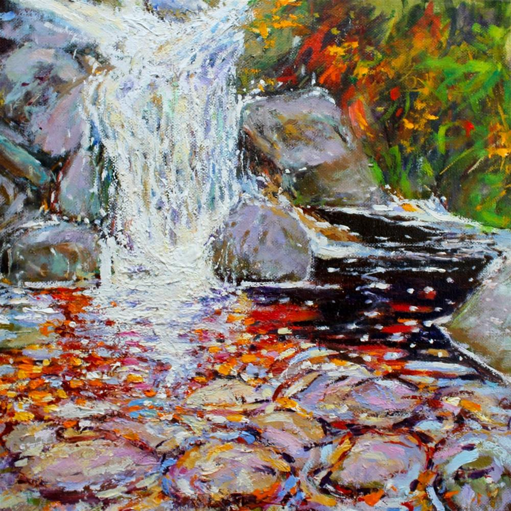 """Irish Rock Pool 2 finished at last. 30 paintings in 30 days Day 9."" original fine art by Ken Devine"