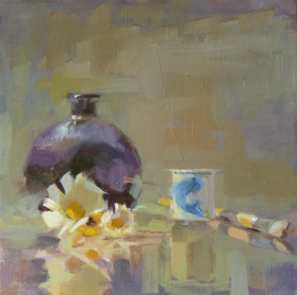 """Brush & Saki Cup"" original fine art by Ron Ferkol"