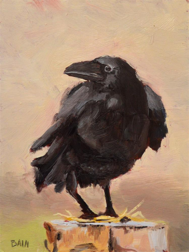 """Raven no. 1"" original fine art by Peter Bain"