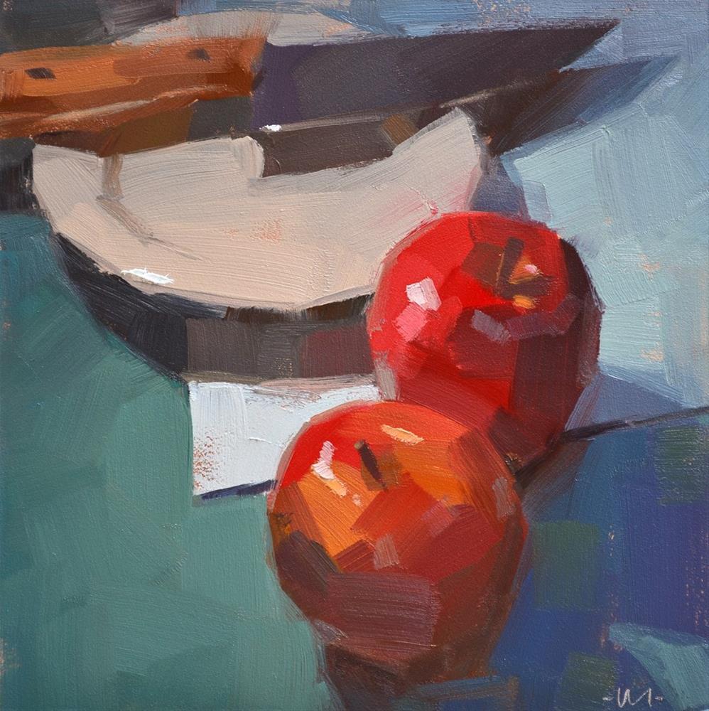 """Mosaic Apples"" original fine art by Carol Marine"