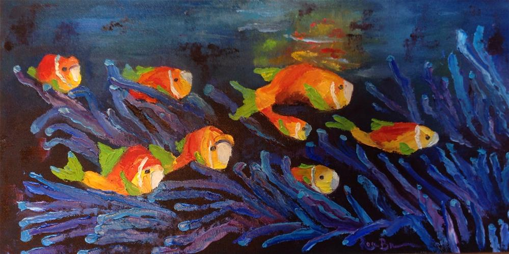 """The Clown Fish"" original fine art by Rose Brenner"