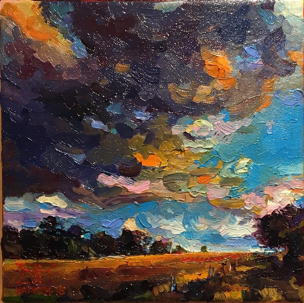 """""""Stormy clouds over Nowica"""" original fine art by Krzysztof Kargol"""