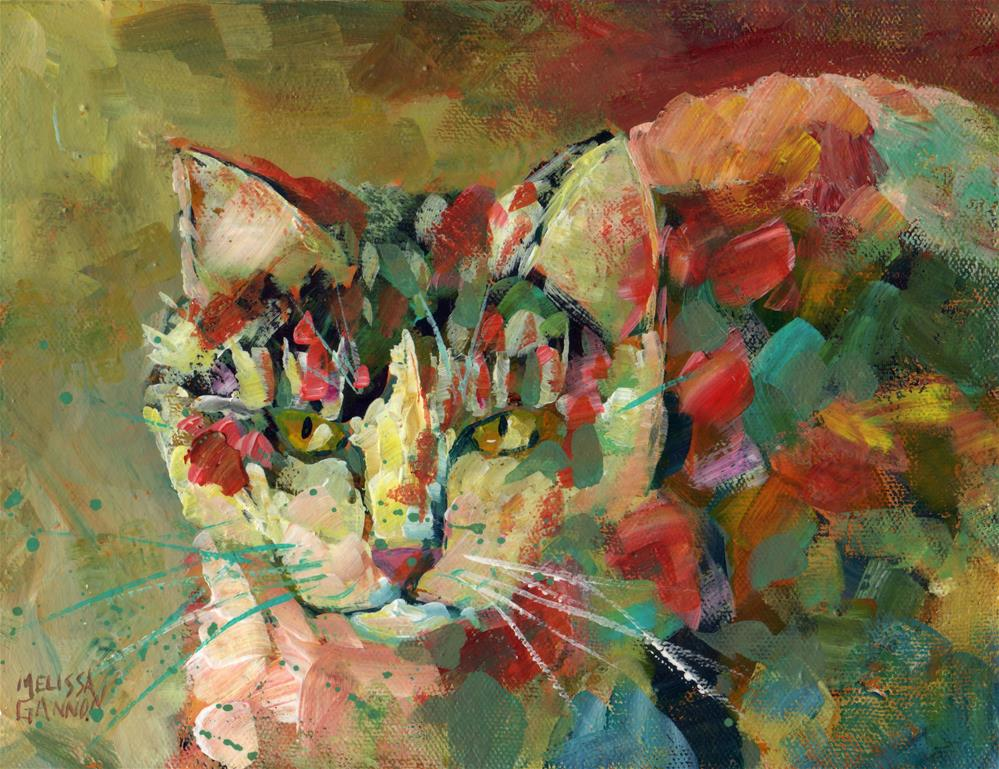 """Cat of Many Colors"" original fine art by Melissa Gannon"