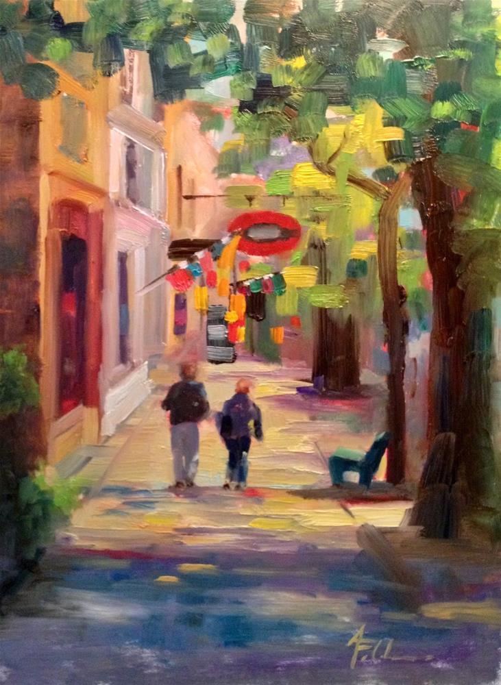 """Harbor Town, 9x13"" original fine art by Ann Feldman"