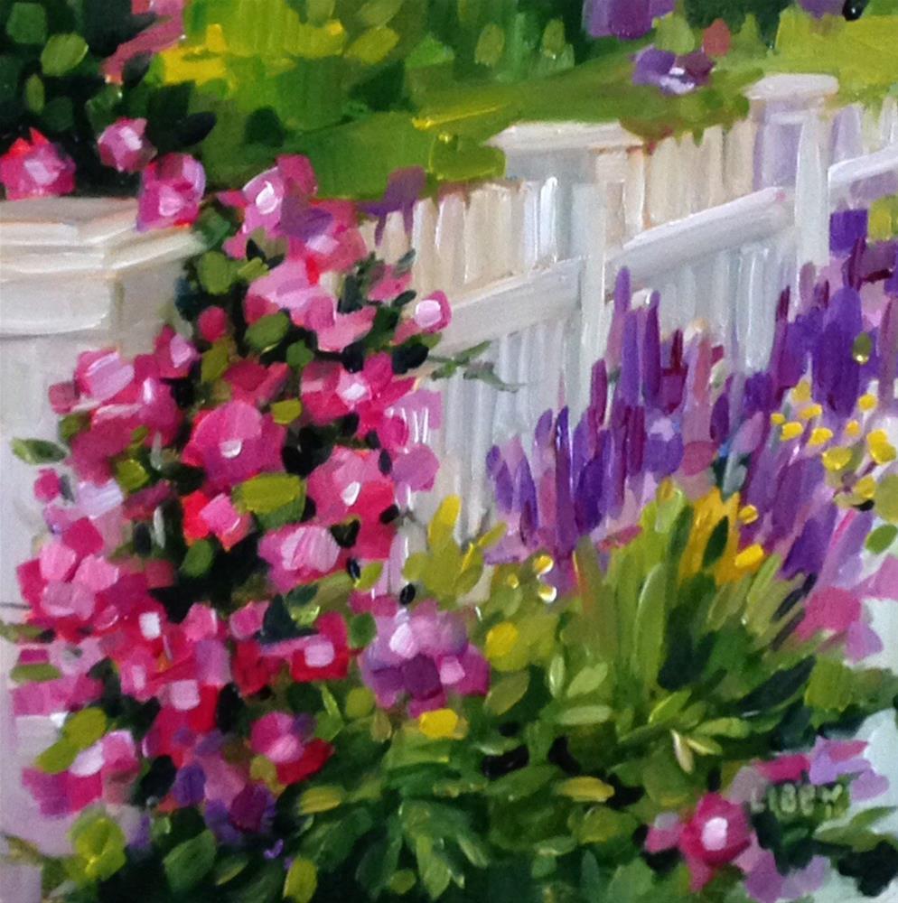"""Climbing Garden"" original fine art by Libby Anderson"
