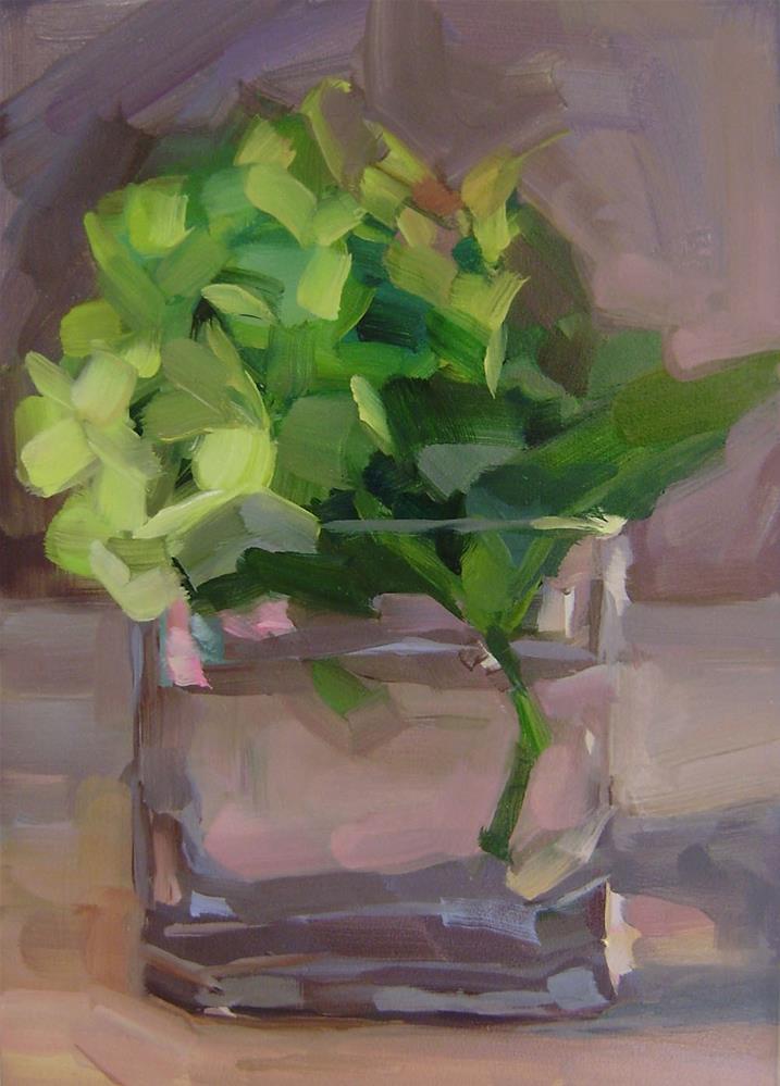 """Green Hydrangea"" original fine art by Holly Storlie"