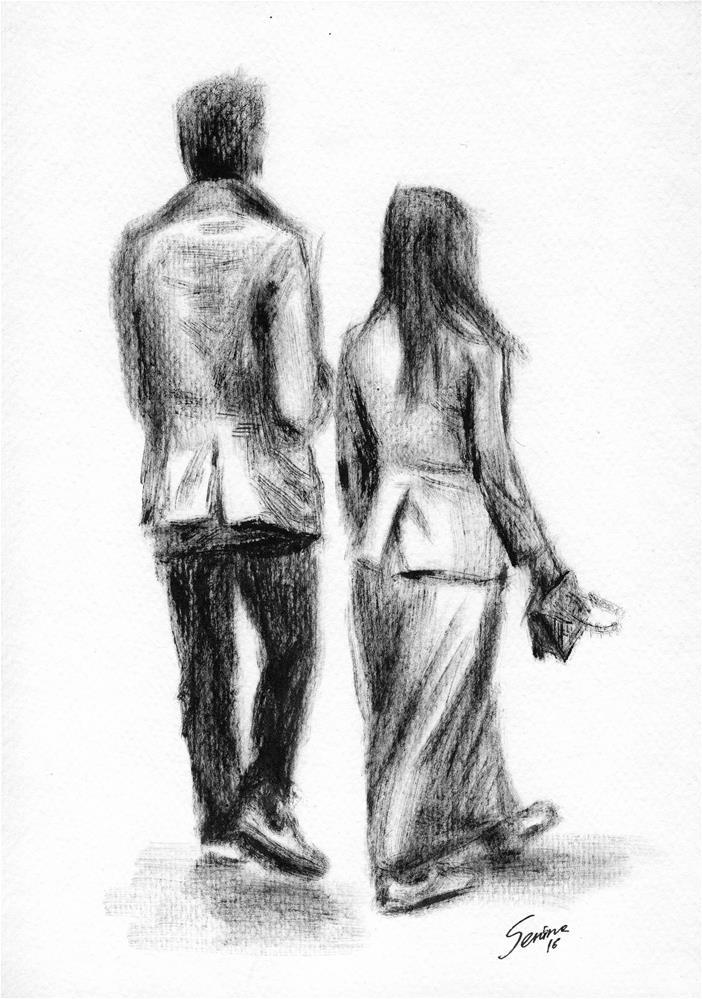 """Pair"" original fine art by Elena Senina"