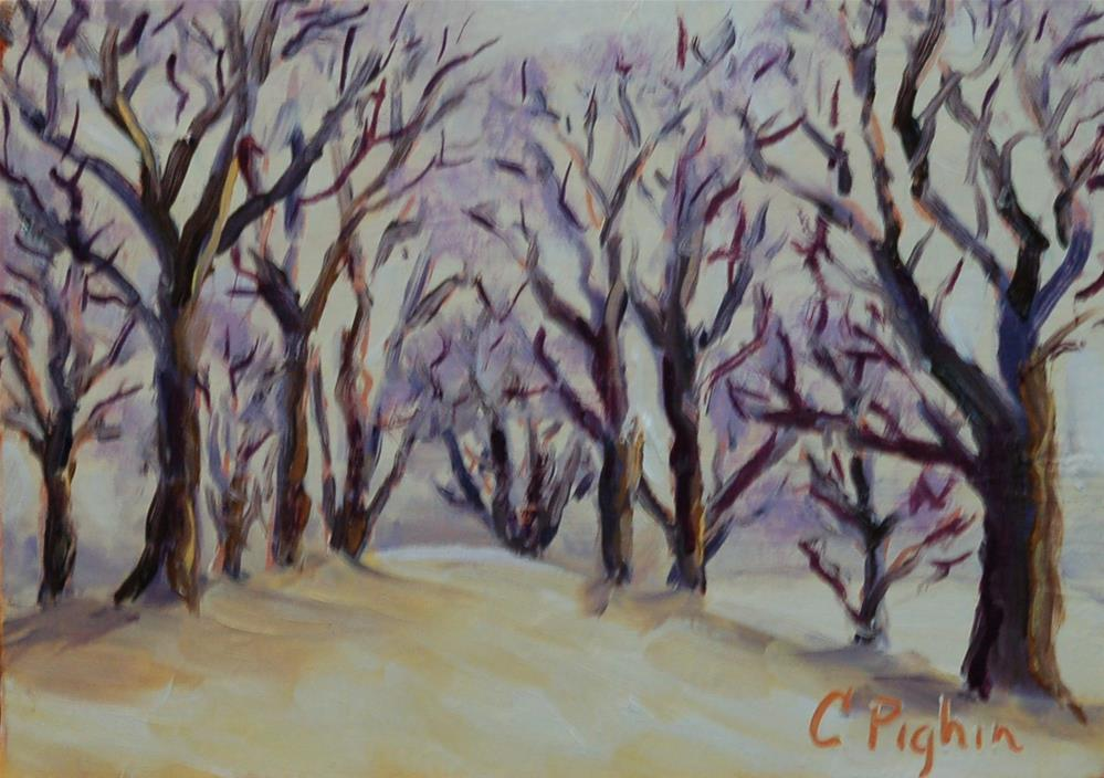 """Winter Sky"" original fine art by Carol Pighin"