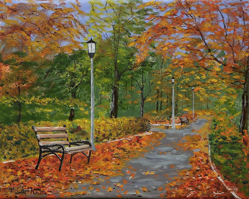 """Walk In The Park"" original fine art by Mike Caitham"