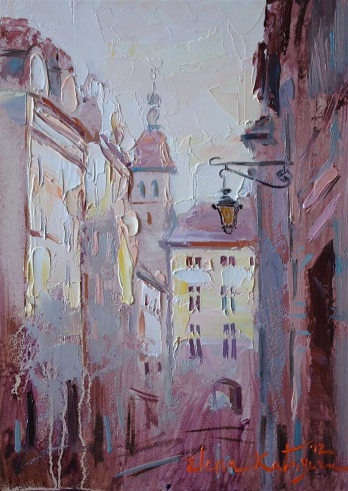 """In the Old City"" original fine art by Elena Katsyura"