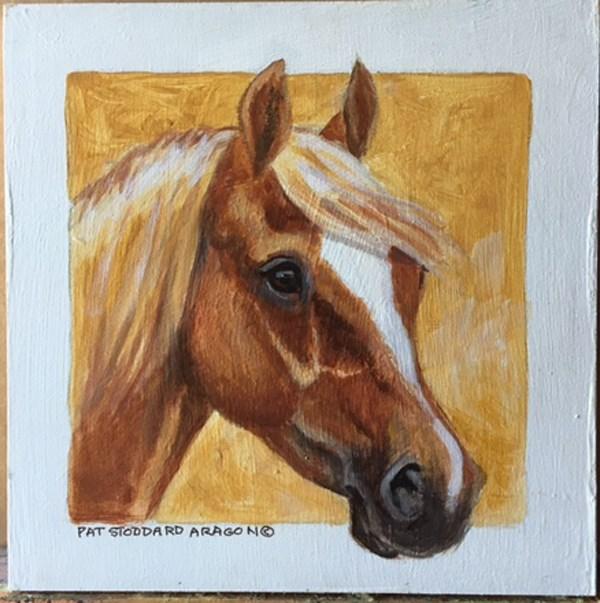 """Chestnut 8x8"" original fine art by Pat Stoddard Aragon"