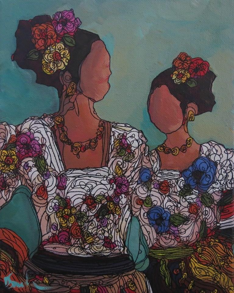 """""""SISTERS"""" original fine art by Dee Sanchez"""