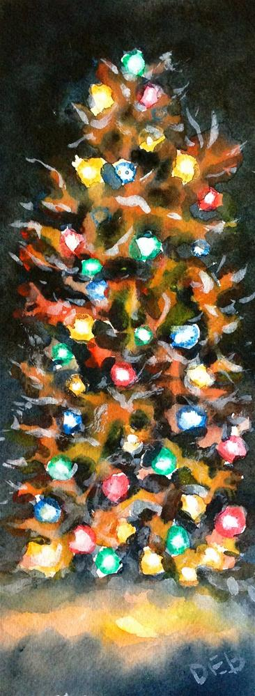 """Lights Make the Tree"" original fine art by Debbie Yacenda"