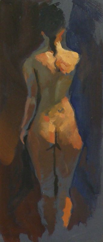 """Standing nude"" original fine art by Peter Orrock"
