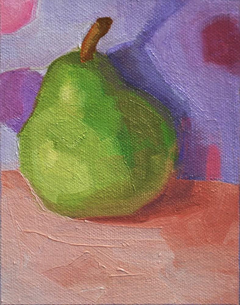 """One Pear"" original fine art by kathy hirsh"