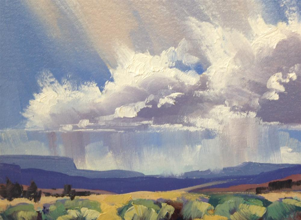 """""""Valley Storms 6"""" original fine art by Mary Jabens"""
