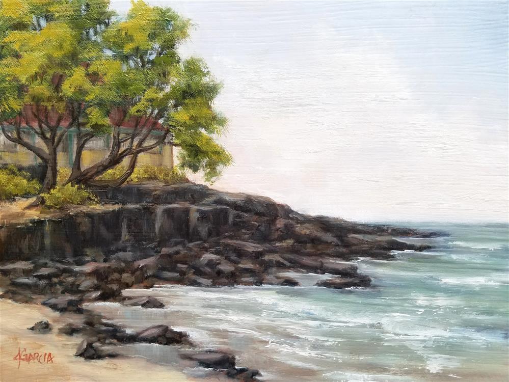 """""""Secluded Perch"""" original fine art by Jeannie Garcia"""