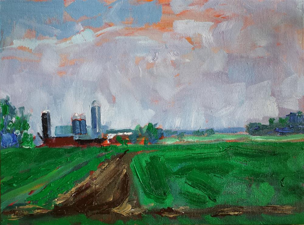 """On the Farm, Ripon, Wisconsin"" original fine art by James Gorman"