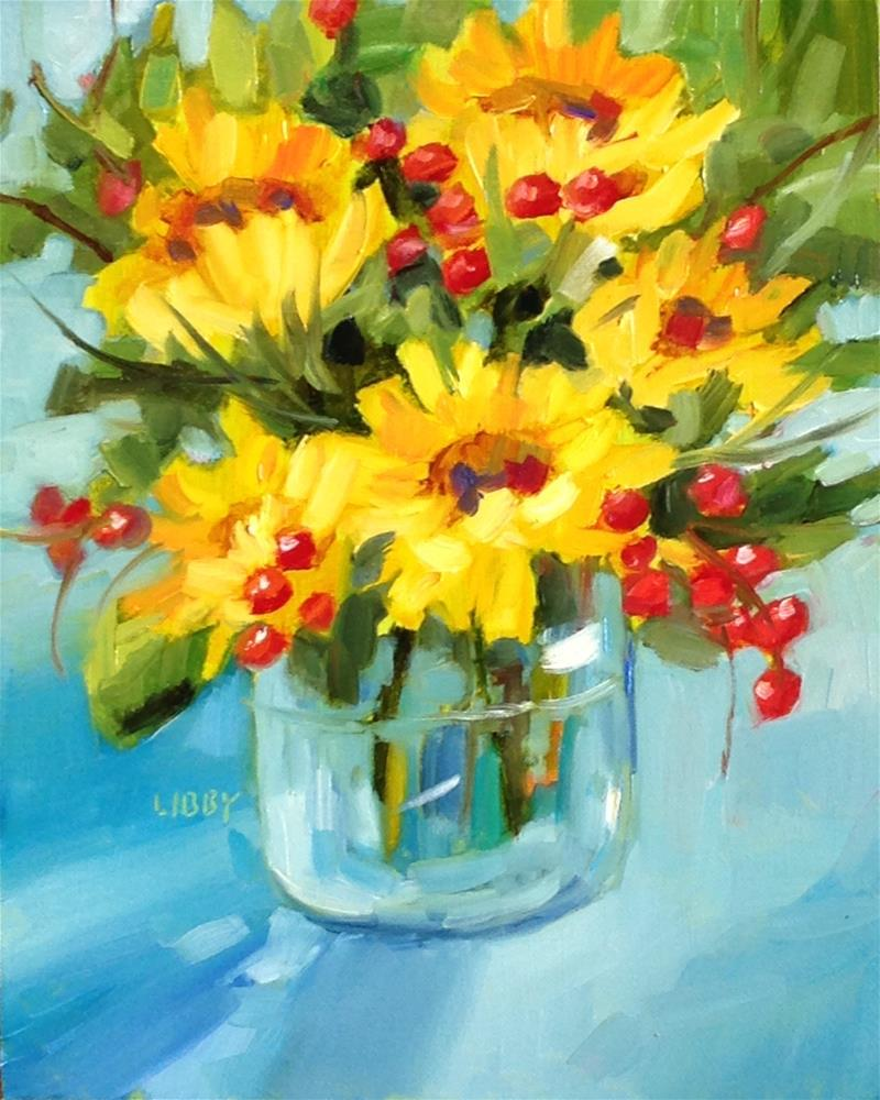 """Radiant Sunflowers"" original fine art by Libby Anderson"