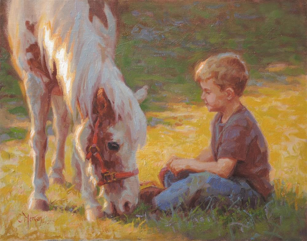 """True Blue Friends"" original fine art by Cecile W. Morgan"