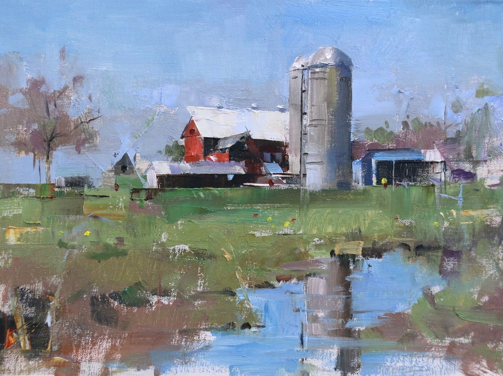 """Amish Country"" original fine art by Qiang Huang"