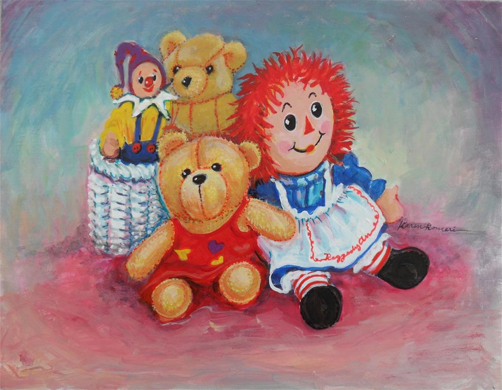 """The Toys"" original fine art by Karen Roncari"