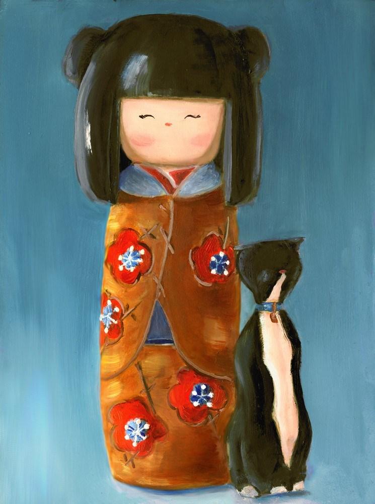 Wooden Doll V original fine art by Sunny Avocado