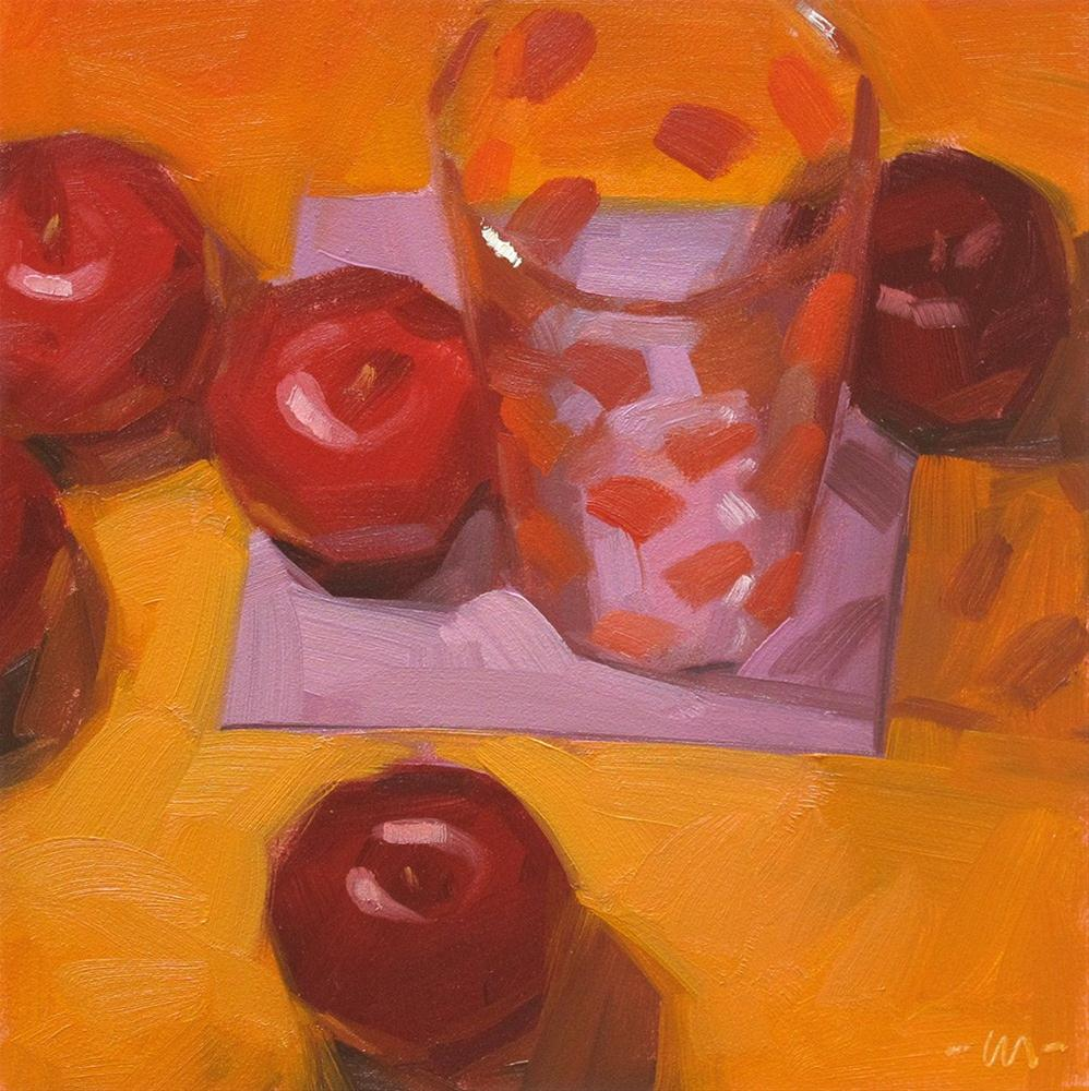 """Plums and Dots"" original fine art by Carol Marine"