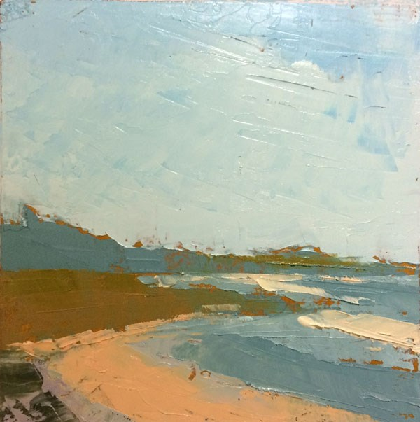 """Asilomar Beach, CA"" original fine art by Mary Gilkerson"