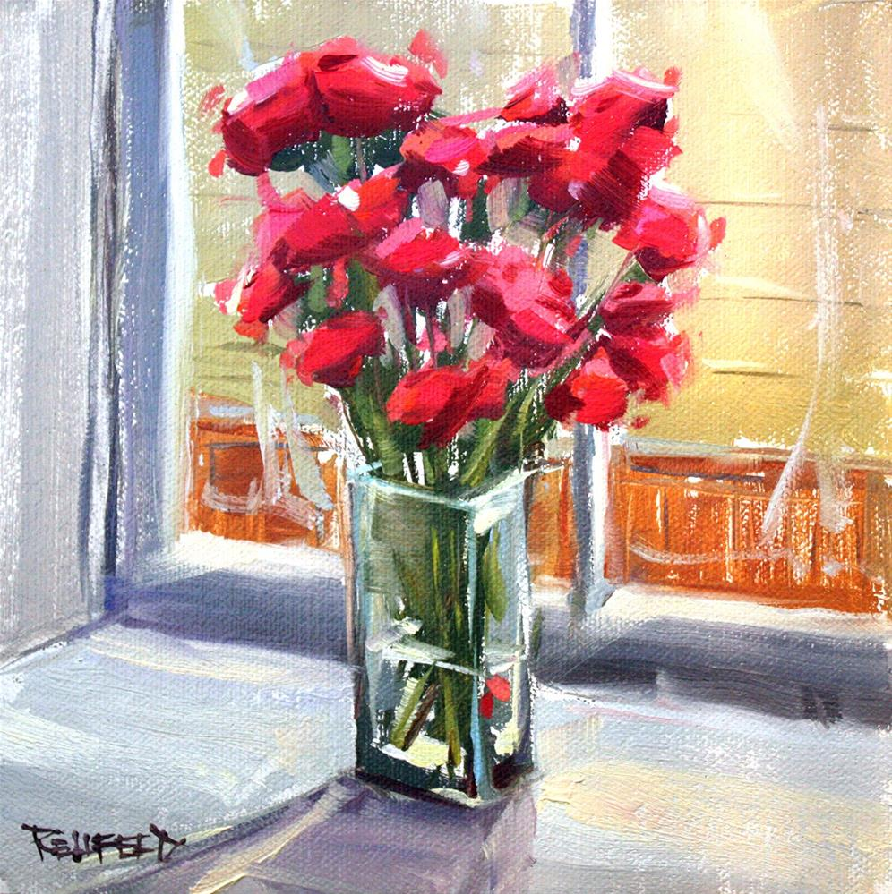 """""""Flowers for a Winter Day"""" original fine art by Cathleen Rehfeld"""