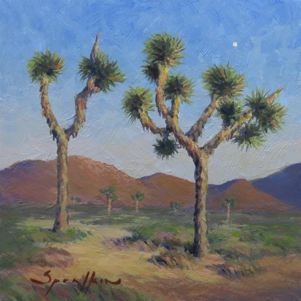 """Moon Over Joshua Tree"" original fine art by Edward Sprafkin"